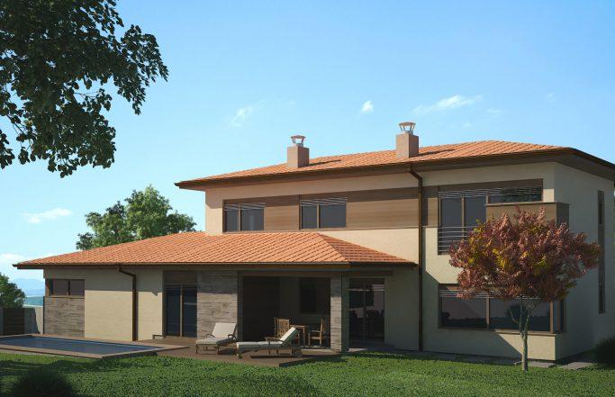 Еднофамилна къща 4 в комплекс Домо