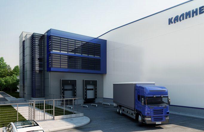 Високостелажен склад и офис Калинел