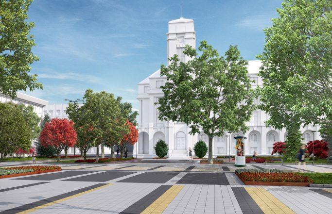 Реконструкция и модернизация на централна пешеходна зона Плевен